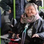 Christelle dans le bus
